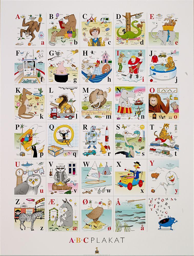 Abc Plakat Alfabet Plakater Laering