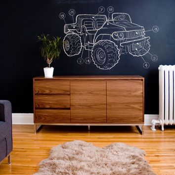 Modern wooden sideboard from wayfair this credenza adds the perfect finishing touch to a midcentury modern conception de salle à mangersalles