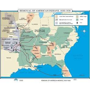 the removal of american indians 1830 1838 identifies the indian tribes home territories the date and routes of removal land granted to the indians west