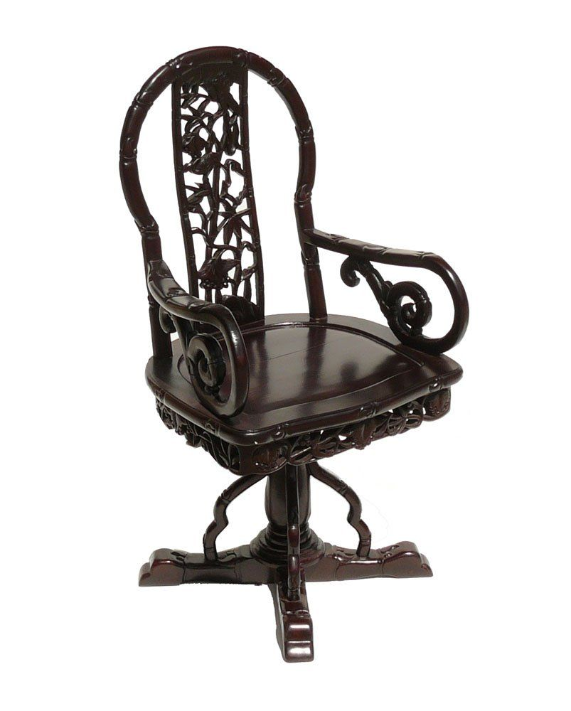 Sensational Chinese Redwood Carved Swivel Armchair Ass525 You Could Download Free Architecture Designs Scobabritishbridgeorg