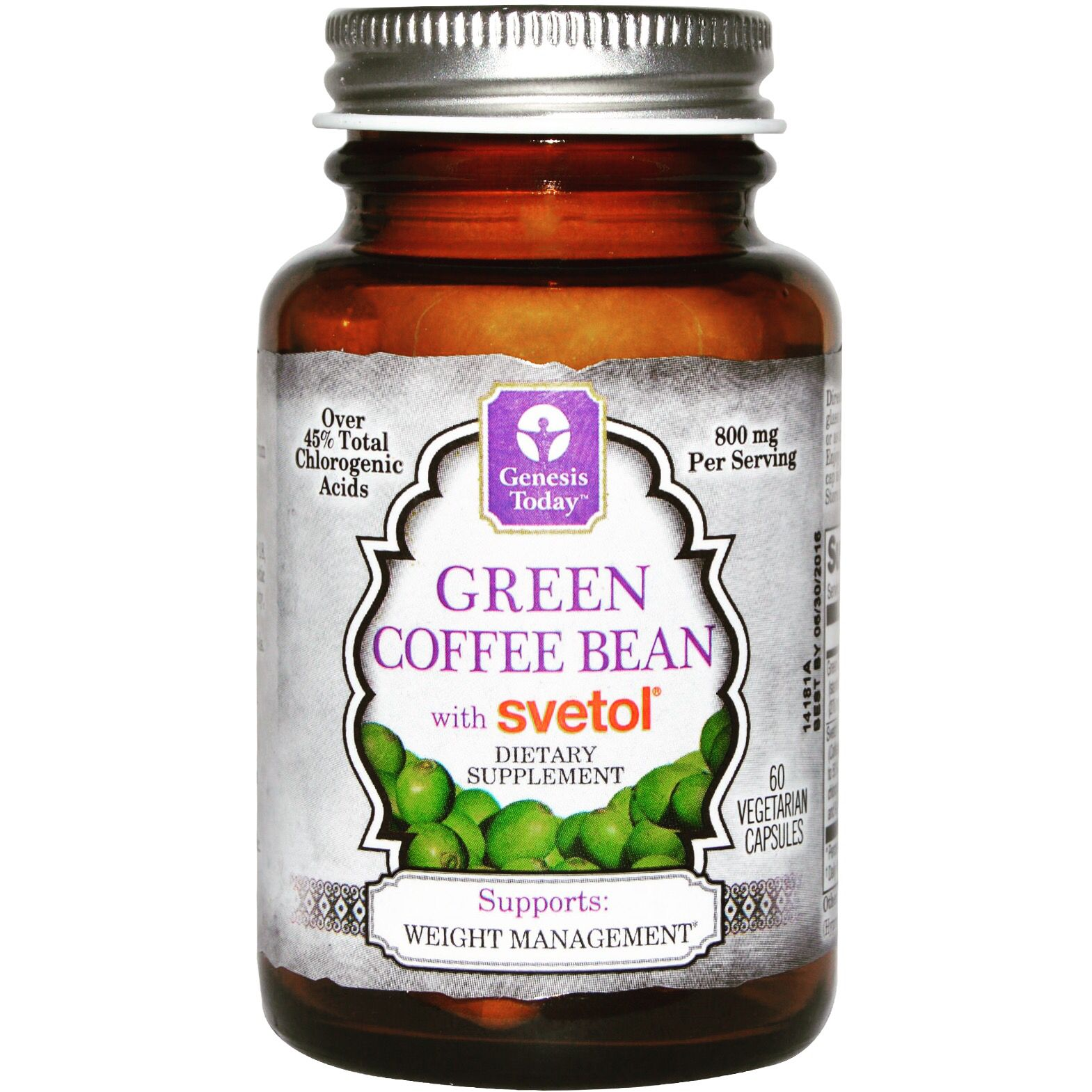 Green coffee bean extract and dietary supplements with
