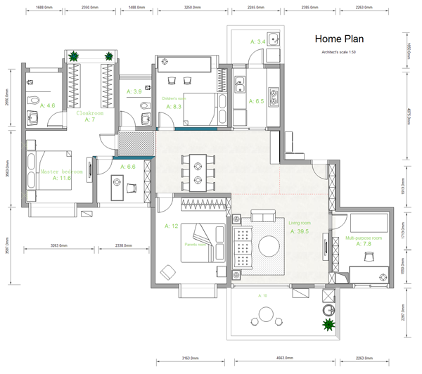 Building Plan Software Edraw Efloorplan New Plan Measure Rooms And Draw Floor Plan Building Plan Software Try I Free House Plans House Plans Free Floor Plans