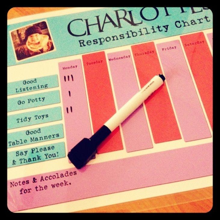Cute DIY Responsibility Charts