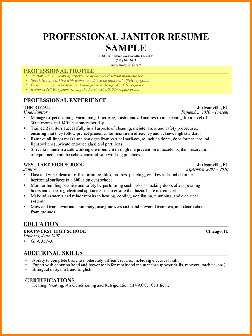 Simple Ways On Writing Profile Section Of Resume In 2021 Resume Profile Examples Resume Profile Resume Examples