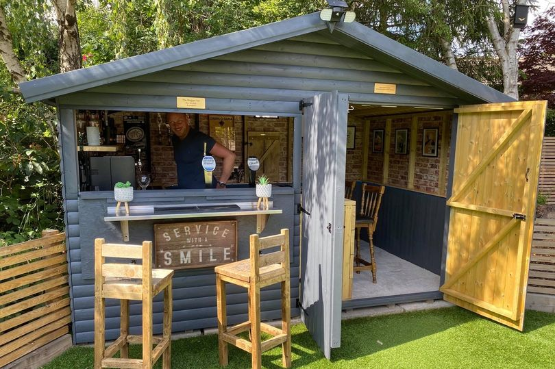 Couple turn garden shed into fully functioning pub for £500 in just three days
