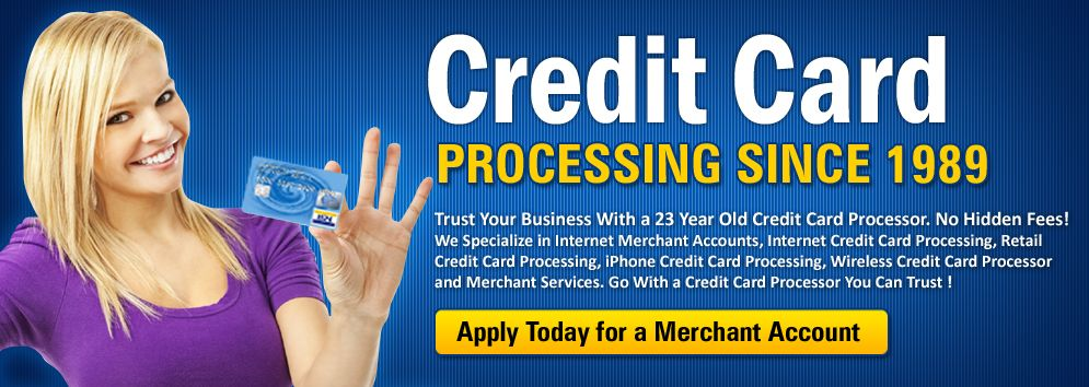 Merchant account services and credit card processing