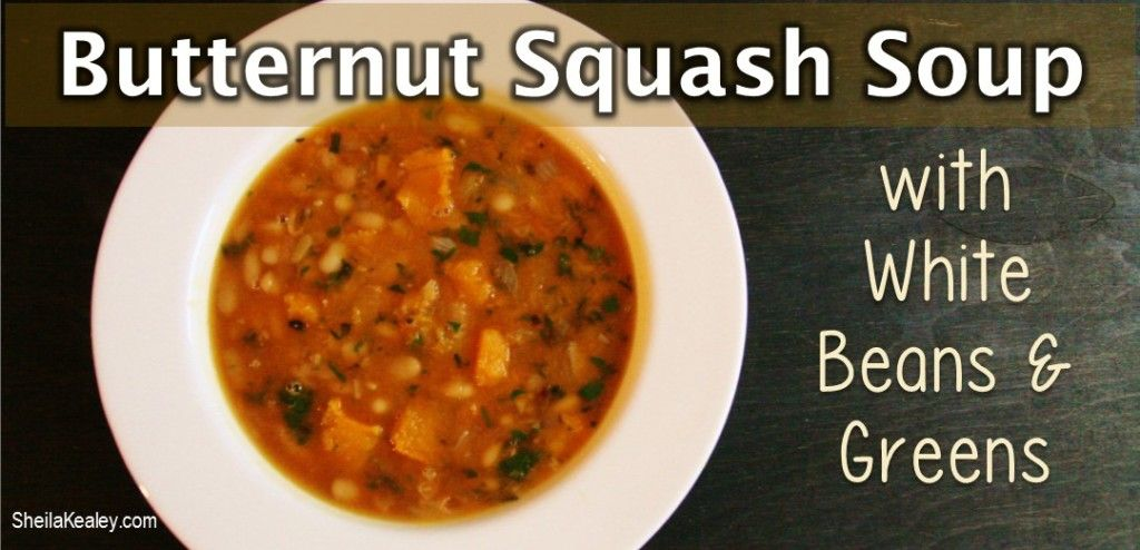 Sweet butternut squash, aromatic onions and garlic, white beans, and dark leafy greens deliver terrific flavours and great nutrition to this nourishing soup. Pair a bowl of this tasty soup with hot crusty bread and you'll have a wonderful and warming meal.