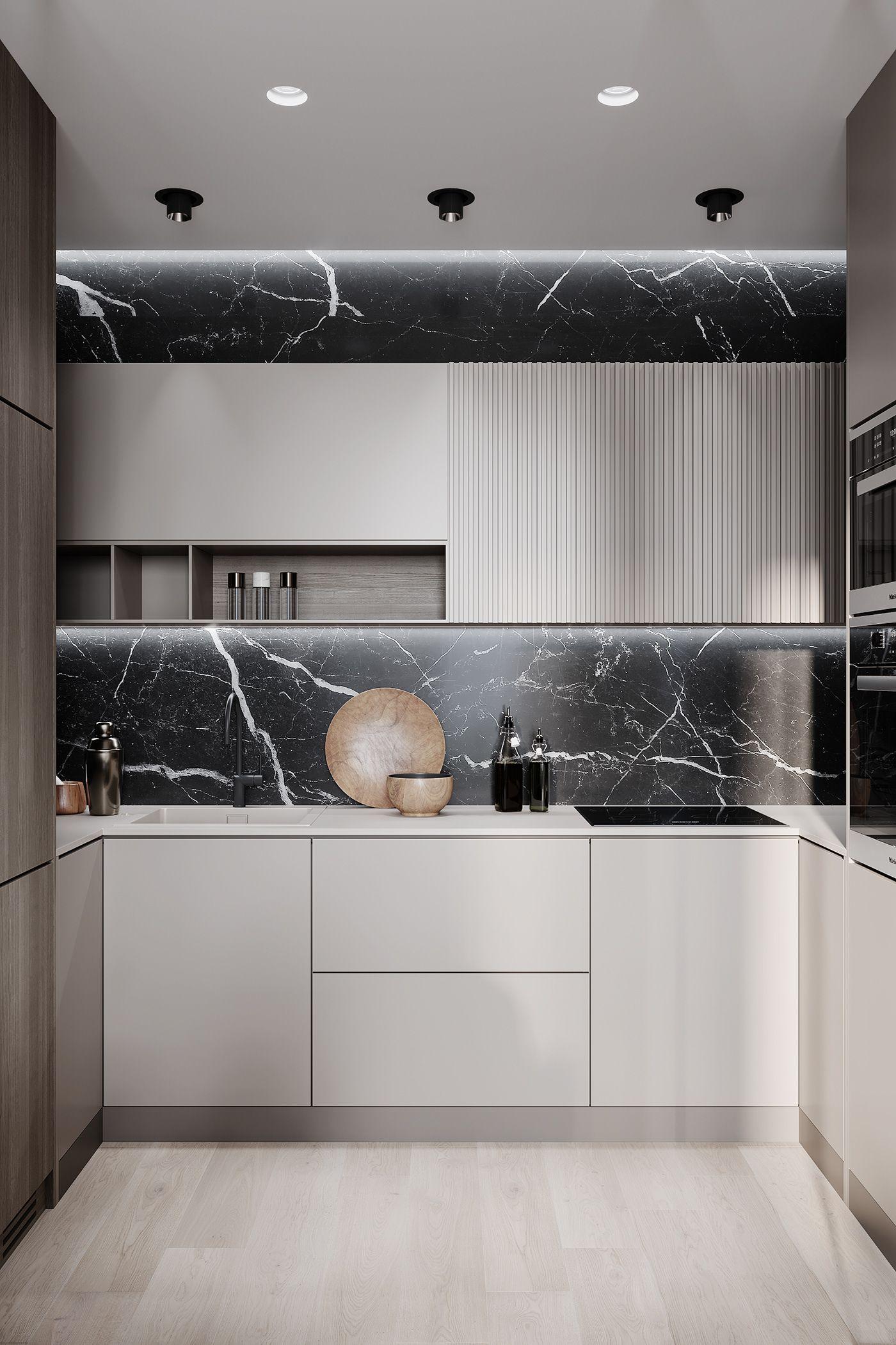 Presnya Siti On Behance Modern Kitchen Cabinet Design
