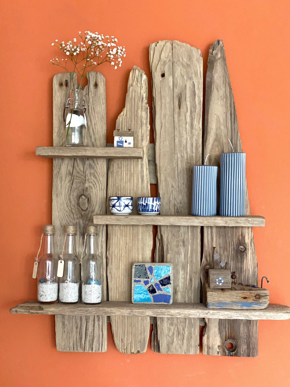 Freue mich, euch diesen Artikel aus meinem Shop bei #etsy vorzustellen: Regal aus Treibholz, Treibholzregal, Geschenk aus Treibholz, maritime Dekoration