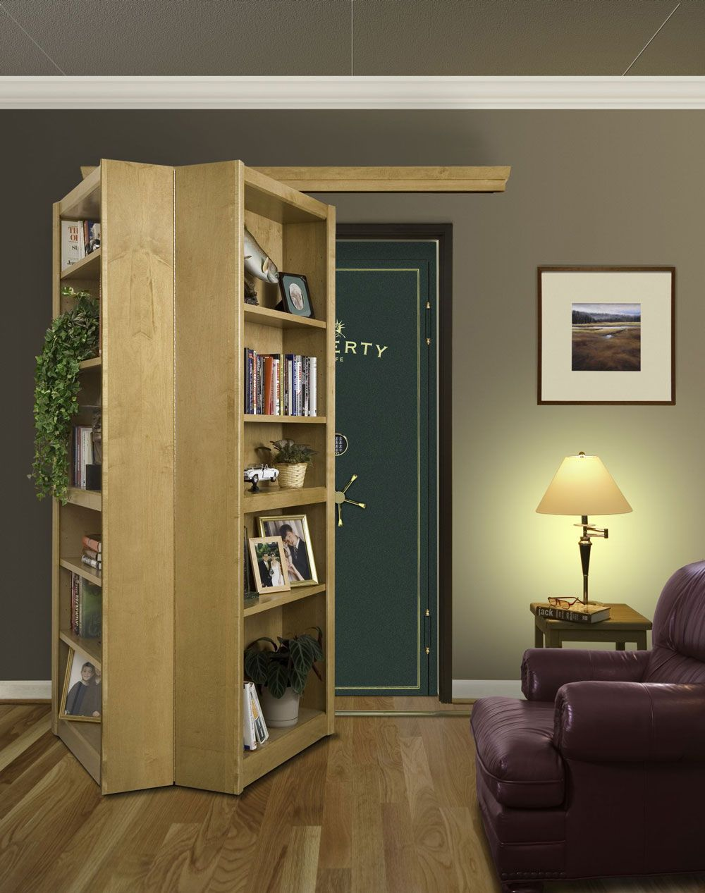 Bookcase Room Dividers | Bookcase Doors - by Woodfold & Bookcase Room Dividers | Bookcase Doors - by Woodfold | Survival ...
