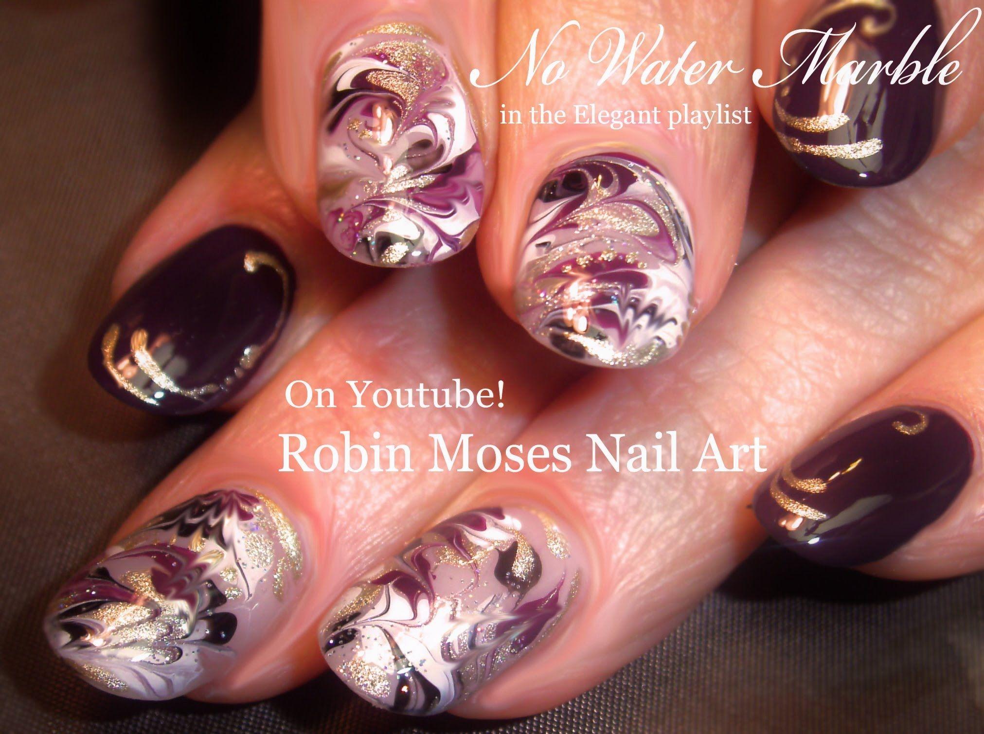 Marble Nails without Water Nail Art! #nails #nailart #nail #art ...