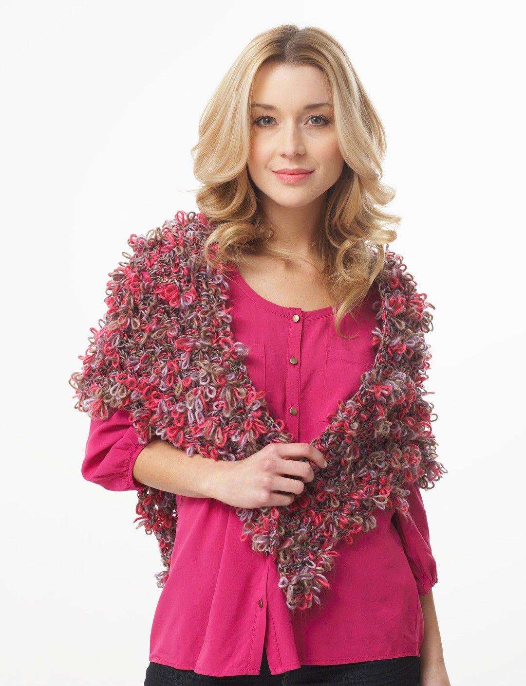 Yarnspirations.com - Bernat Fleurettes - Triangle Shawl (crochet ...