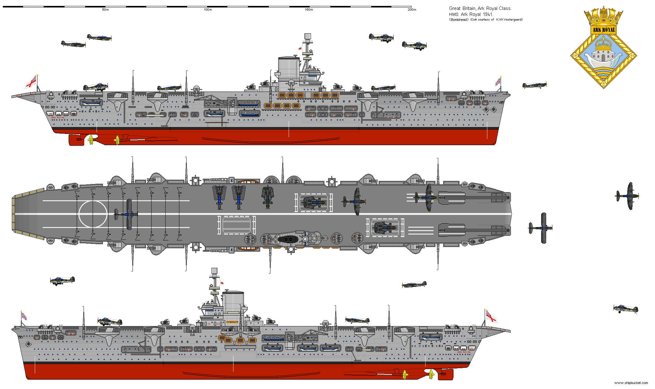 Shipbucket Real Designs Great Britain Cv 91 Ark Royal 1940 Png Hms Ark Royal Aircraft Carrier Navy Ships