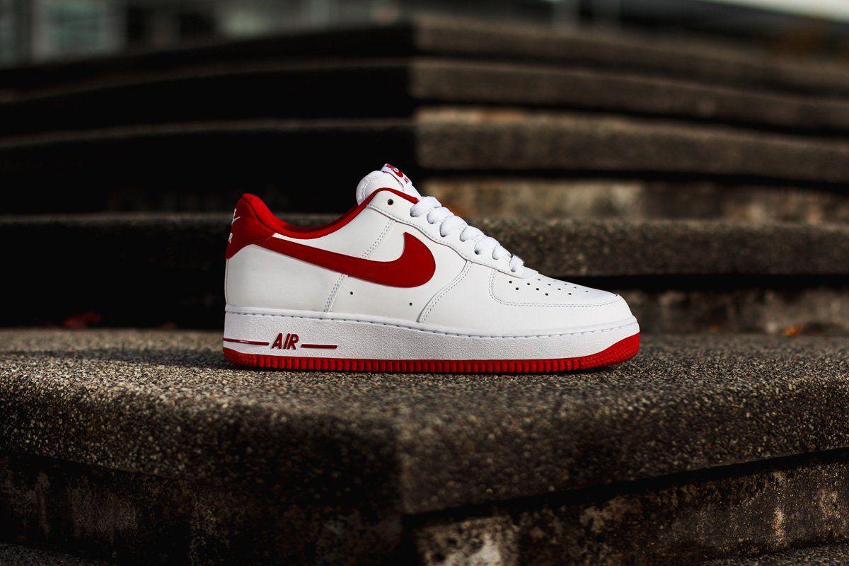Nike Air Force 1 Faible Gym Blanc Gorge Rouge images bon marché magasin de LIQUIDATION bUCLoccJYh