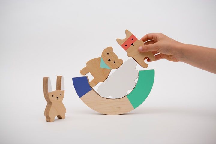 9 adorable wooden pieces for kids to play with or stack in any and every  possible way they can imagine.