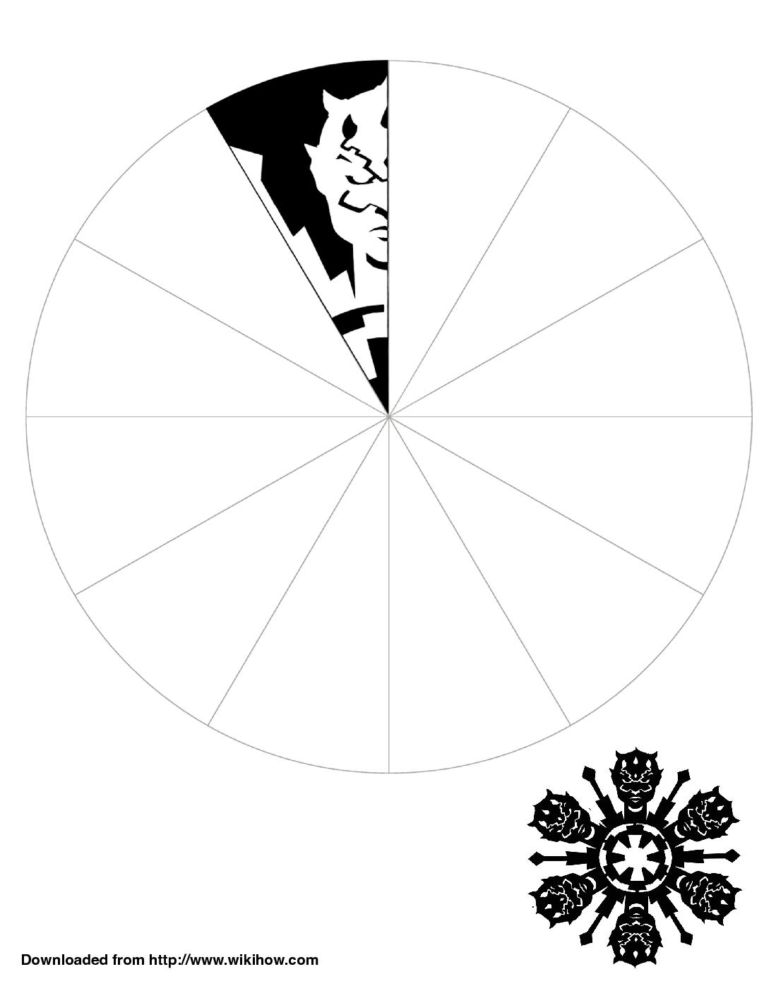 Darth Maul Folded Snowflake Template