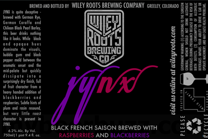 mybeerbuzz.com - Bringing Good Beers & Good People Together...: Wiley Roots Brewing - Jynx Black French Saison
