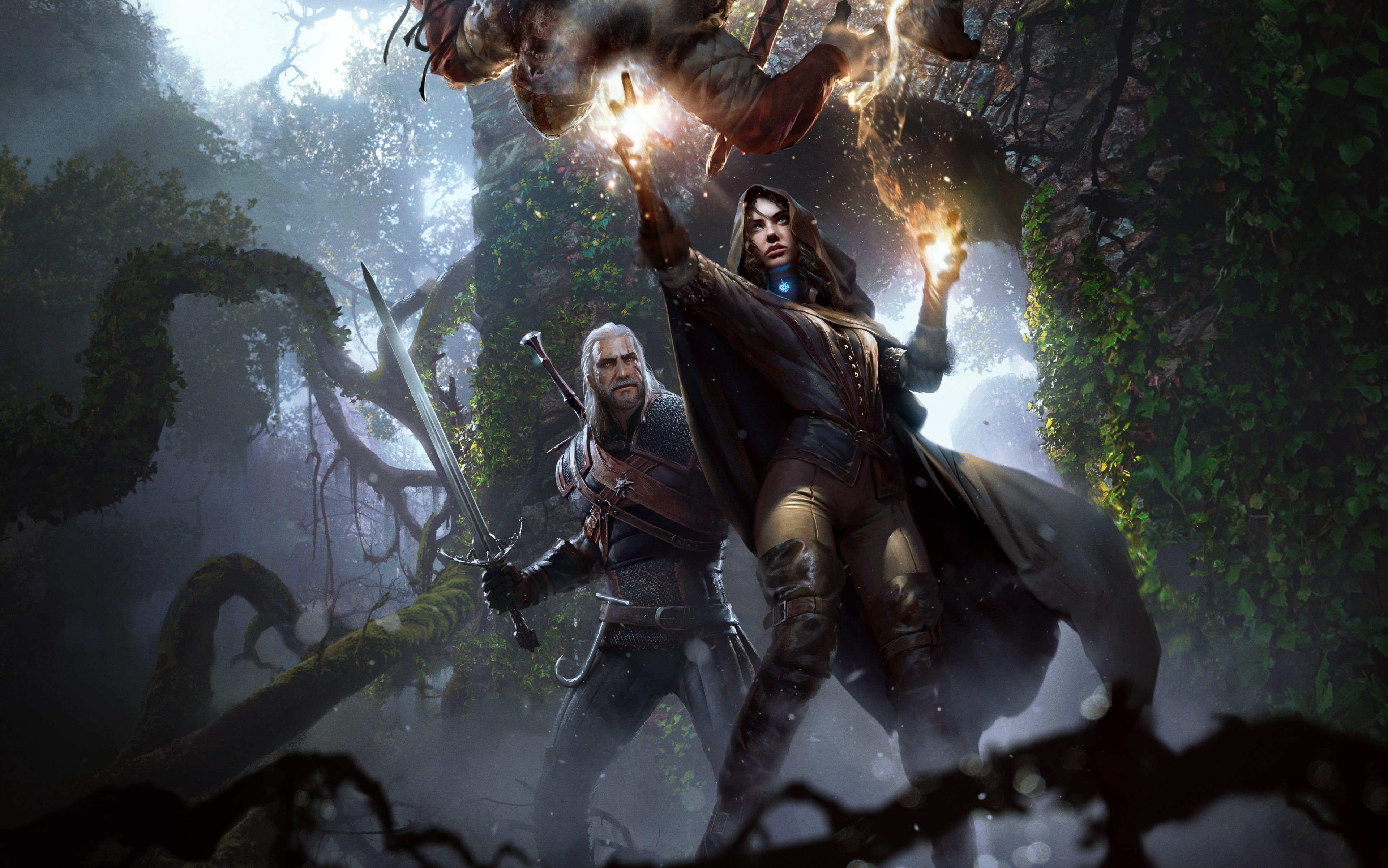 The Witcher 3 Wild Hunt 4k Nice Pic 4k Wallpaper Hdwallpaper Desktop In 2020 Wiedzmin