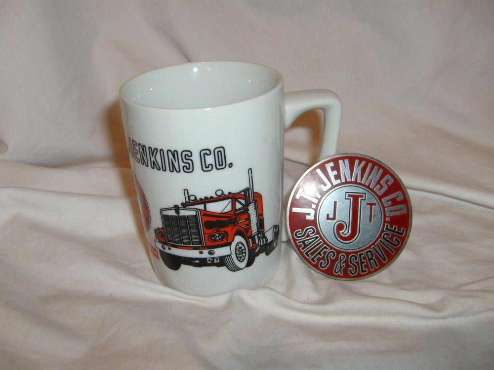 kw kenworth truck j t  jenkins co  coffee cup  u0026 medallion