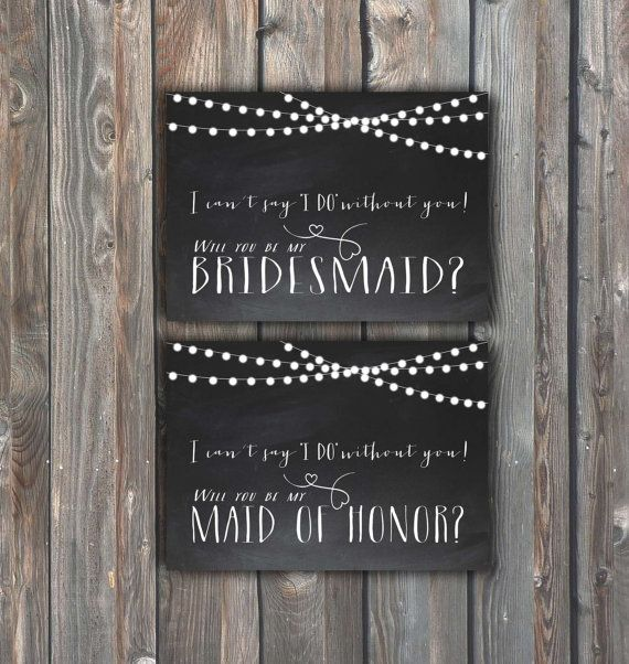 Printable Bridesmaid, Maid Of Honor Cards