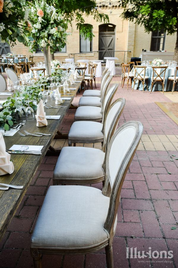 White Washed King Louie Chairs Event Rentals Wedding