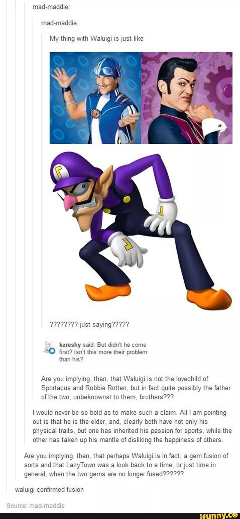 Waluigi dating sim tumblr rooms