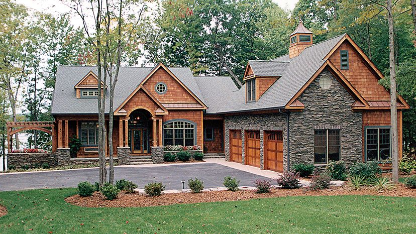 Lakeside Home Designs From Homeplans Com Craftsman House Plans Craftsman Style House Plans Cottage House Plans