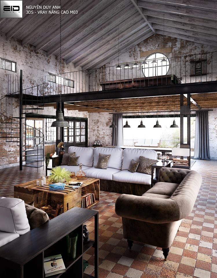 An Urban Industrial Home Soft Industrial Vibe From Painted