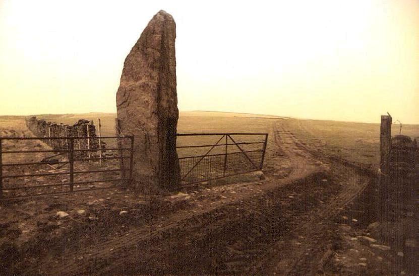 carreg-bica glamorgan bradwens stone; river bather
