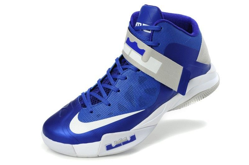 Nike Zoom LeBron Soldier V Mens Basketball Shoes - Blue/White $83.6