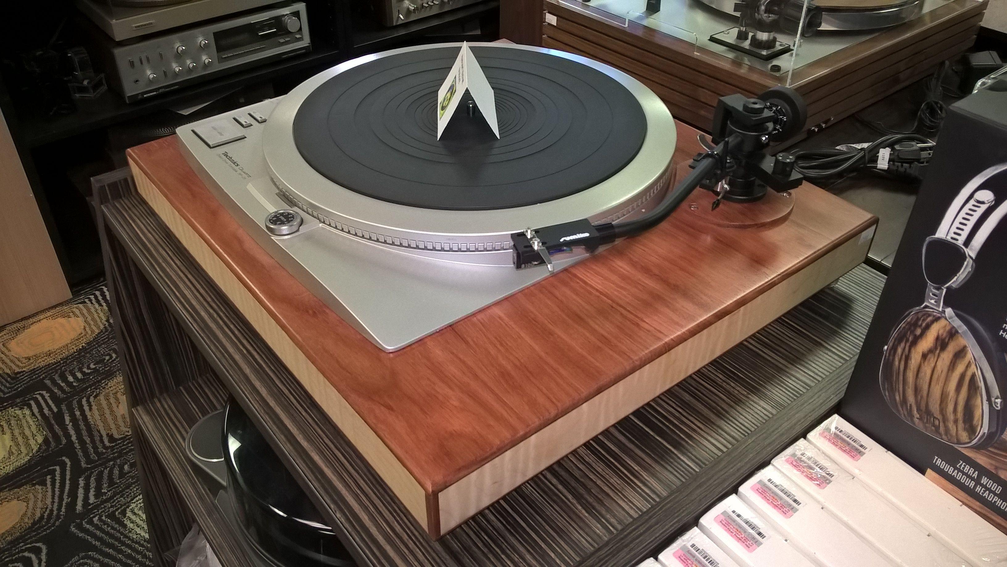 Technics Direct Drive with Sumiko Tonearm on custom base @ soundgalleryaustin.com
