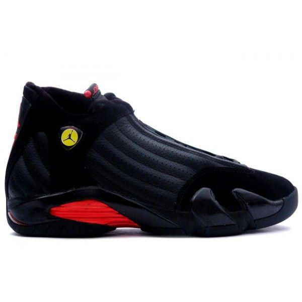 womens air jordan retro 14 black red