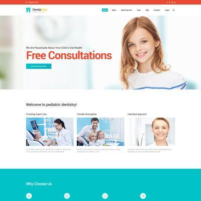 Dentistry For Children Website Template Website Template Dentistry For Kids Kids Website