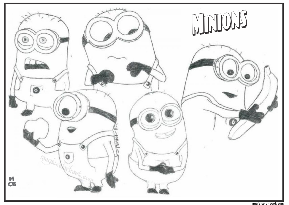 Pin By Magic Color Book On Minions Coloring Pages Free