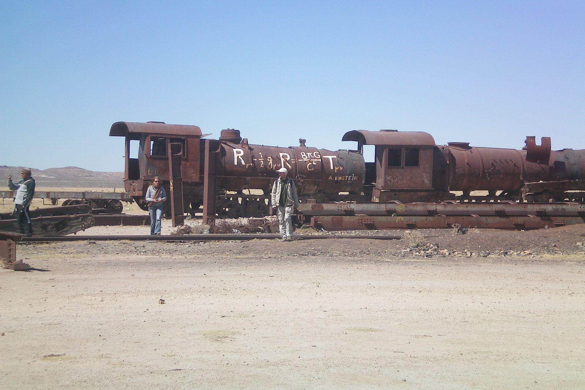 Cementerio de trenes at Salar de Uyuni, Bolivia