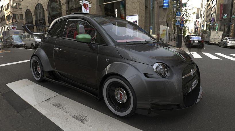 one-off fiat 550 italia concept powered by ferrari V8 engine | Fiat