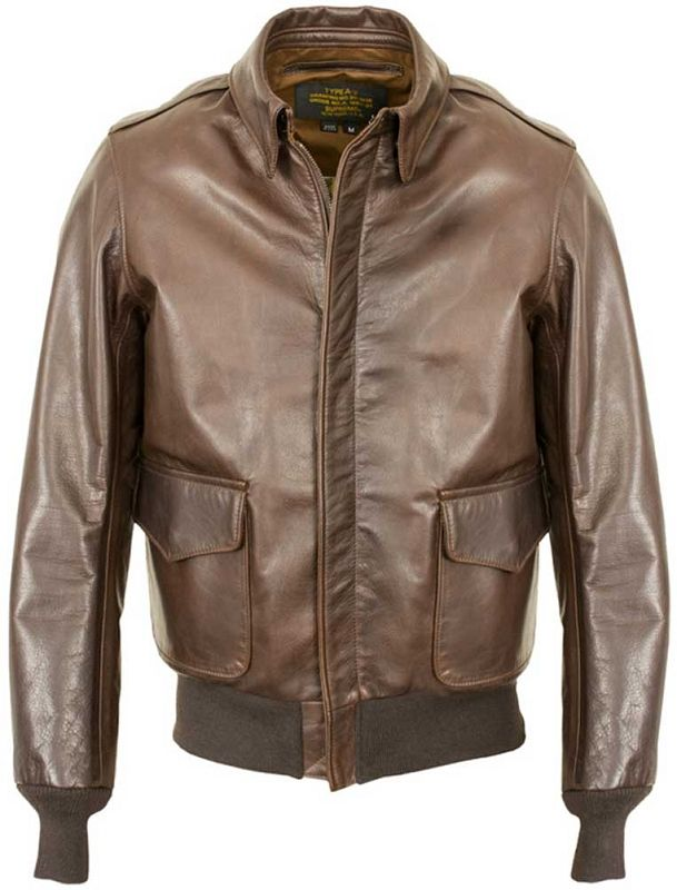 Schott NYC 574 Waxed Cowhide A-2 Flight Jacket | Dudes, leather ...