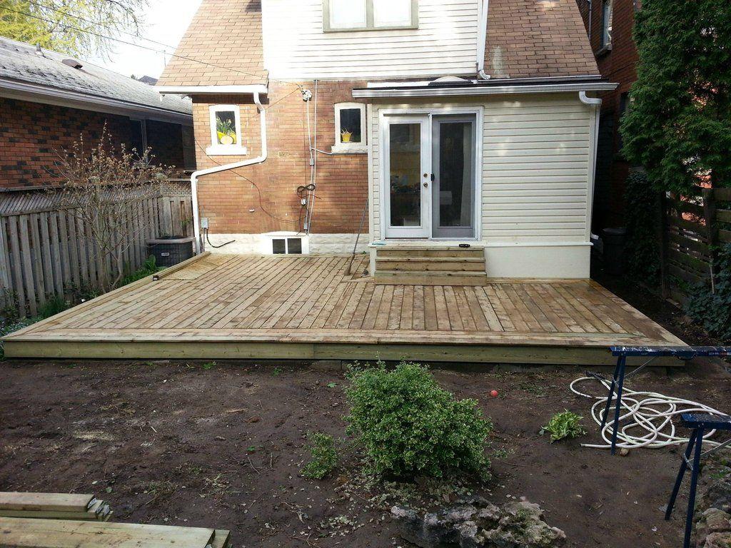 DIY Deck Project   Floating deck, Diy deck, Backyard on Ground Level Patio Ideas id=81385