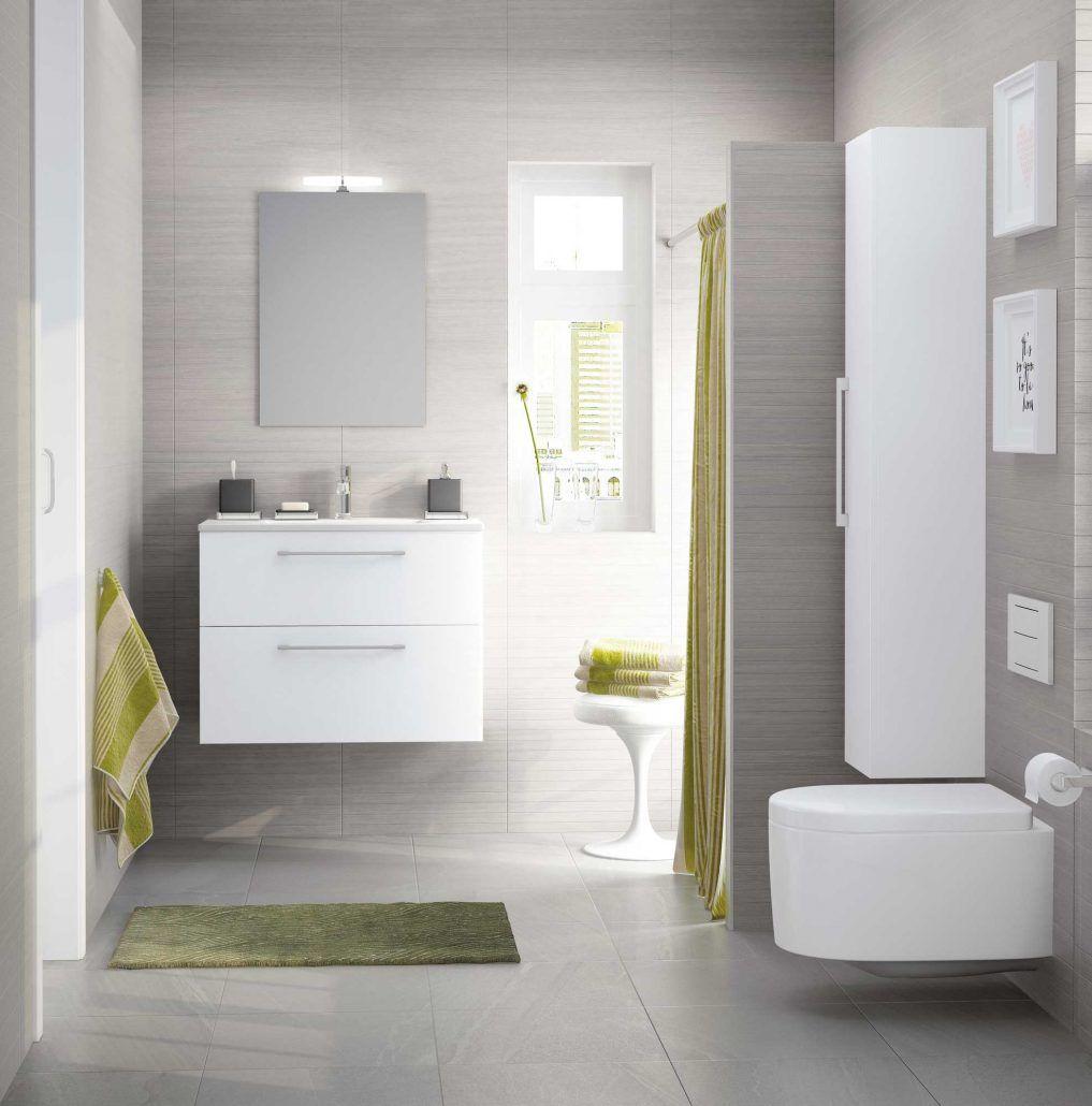 Conjunto de baño moderno compacto suspendidos con 2 ...