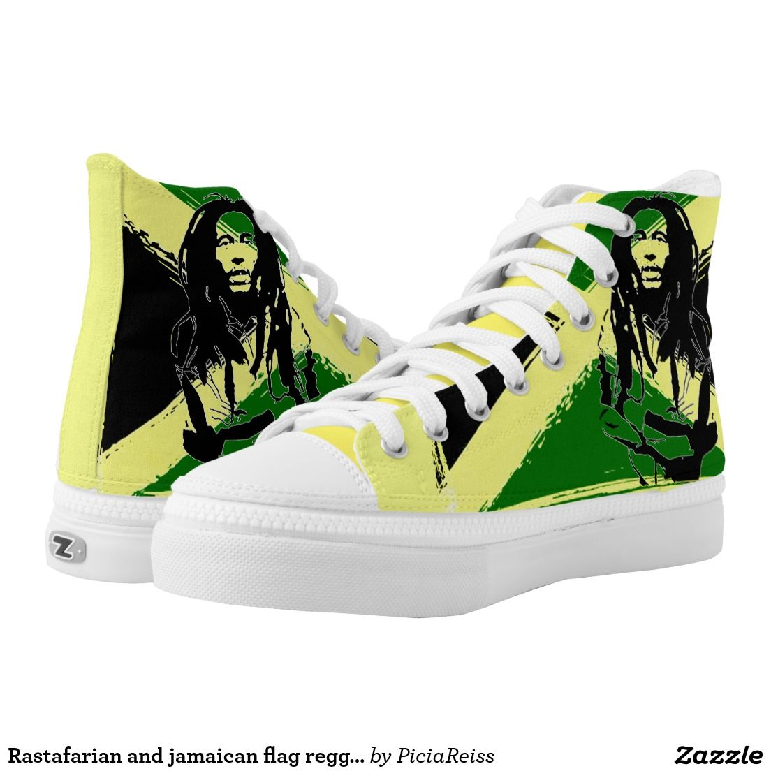 Rastafarian and jamaican flag reggae pattern shoes printed shoes rastafarian and jamaican flag reggae pattern shoes printed shoes voltagebd Gallery