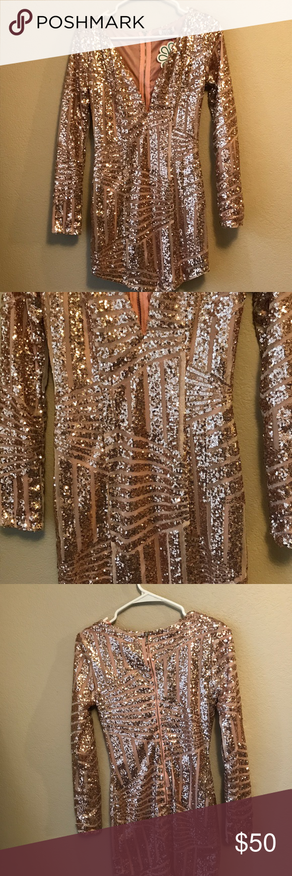 Nellis rose gold sequin dress boutique rose gold sequin dress