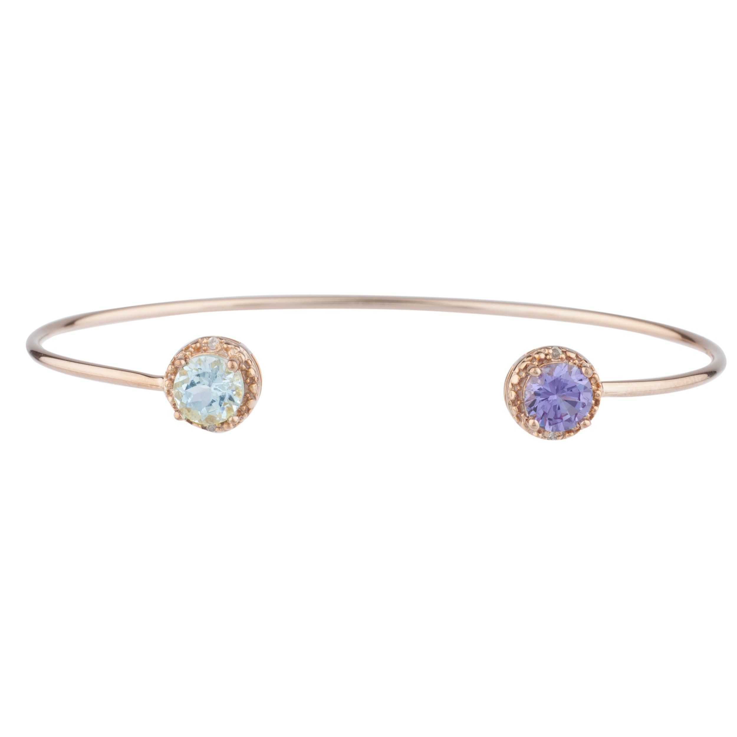 paul richter bracelet fabricated rose by gemstone designed colored bangles pin bangle gold diamond