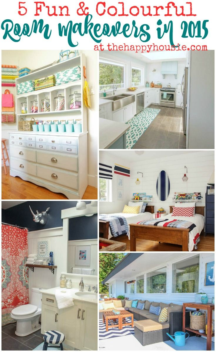 5 fun and colourful room makeovers in 2015 at thehappyhousie.com