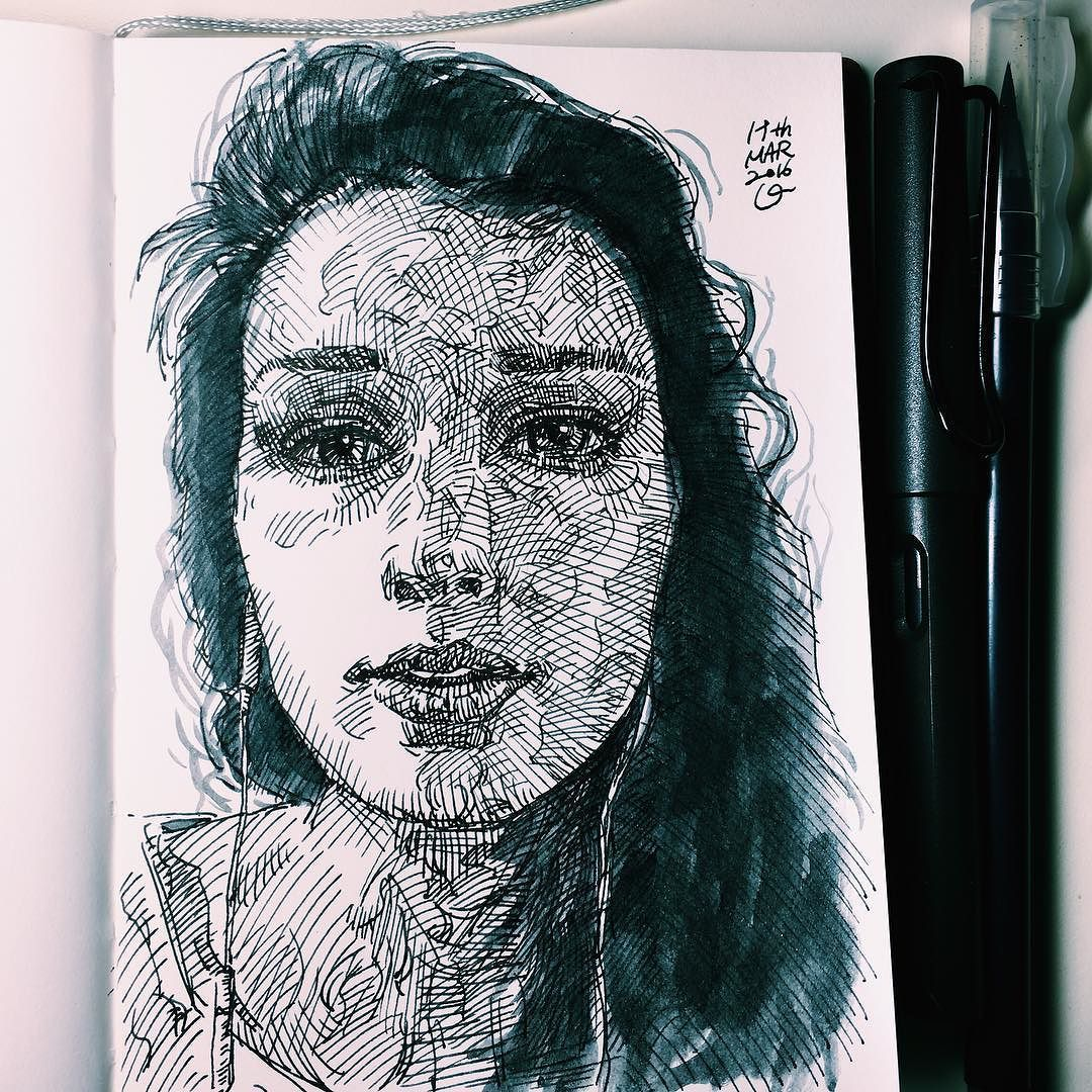 For my one of gorgeous artists 4x6. lamy safari. Akashiya brush pen. #illustration #drawing #sketch #dailysketch #dailyillustration #uniqueillustration #lamy #lamysafari #pencil #akashiya #doodle #fountainpen #pen #penandink #ink #inktober2go #uniquefollowerillustration #portrait #artist #art #girl #artwork #letmeintroduceuniquefollowers #drunkendrawing by unique4insta