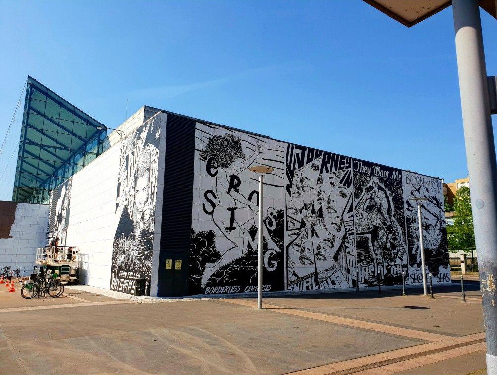 Nouvelle Facade En Cours Au Musee D Art Moderne De Strasbourg Art Moderne Musee D Art Strasbourg