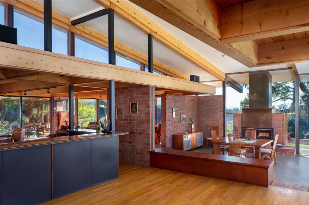 A Japanese inspired post and beam by Ray Kappe lists in Los Angeles The Spaces