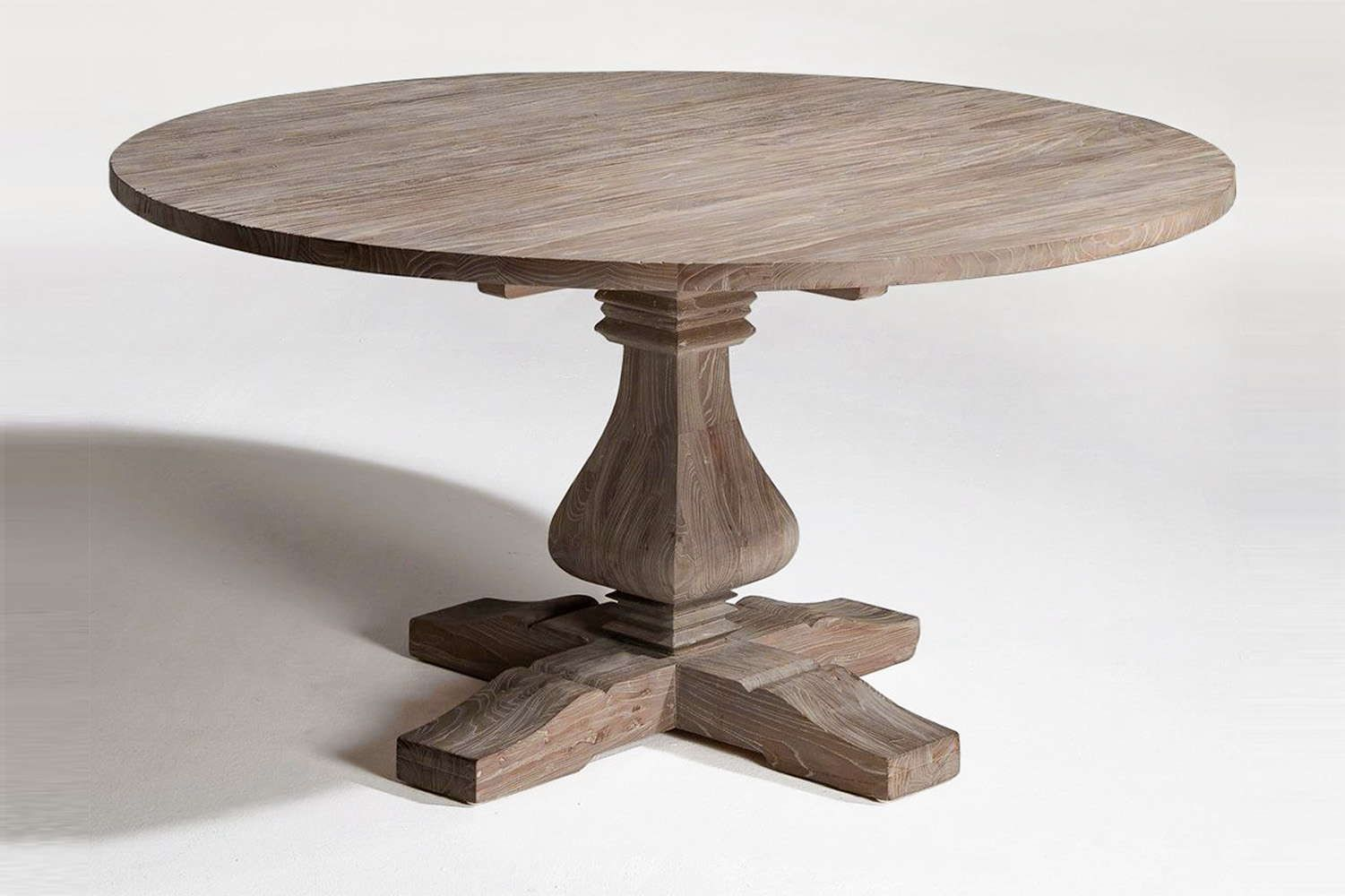 Customize Solid Wood Types Adjust The Size Change The Features And Add Distressed Wood Pedestal Roun Dining Table Round Wood Dining Table Round Dining Table
