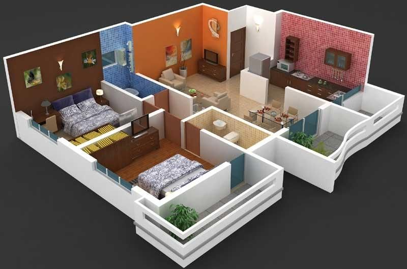 Interior Designs 2bhk Flat | Smart House Ideas | Ideas for the House ...