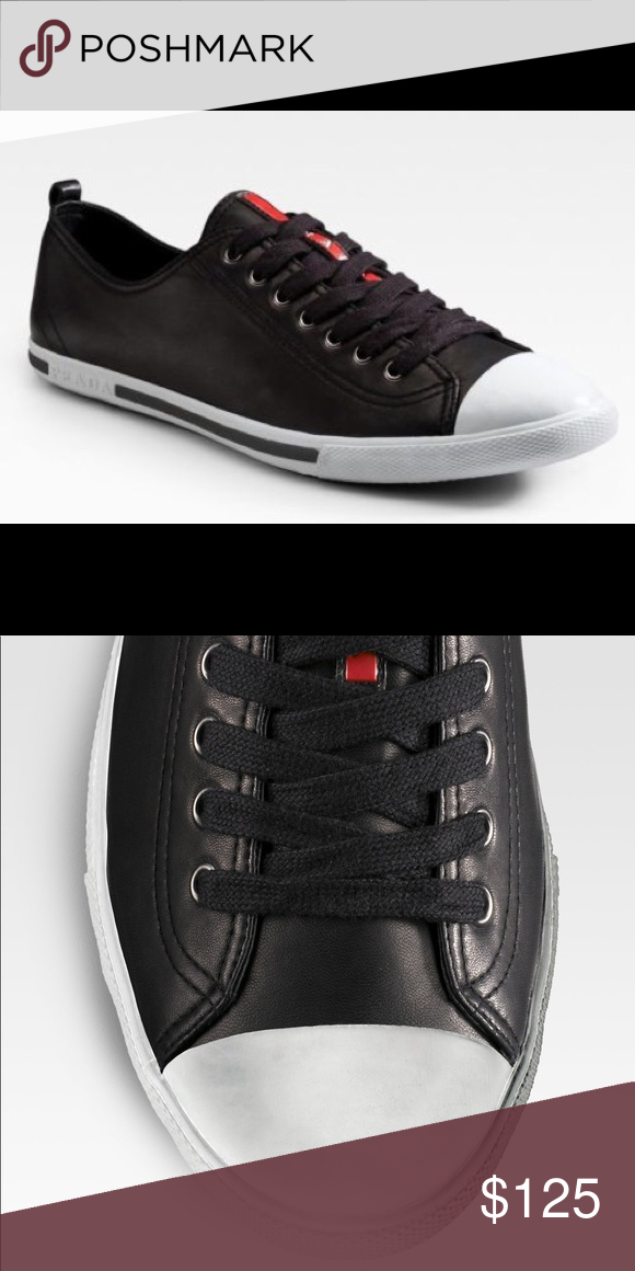 447ff6036f Prada Nappa Leather Sneakers in Black S: 38 Women Prada Nappa Leather  Sneakers Color: Black Size: 38 100% Leather Made in Italy Good condition!