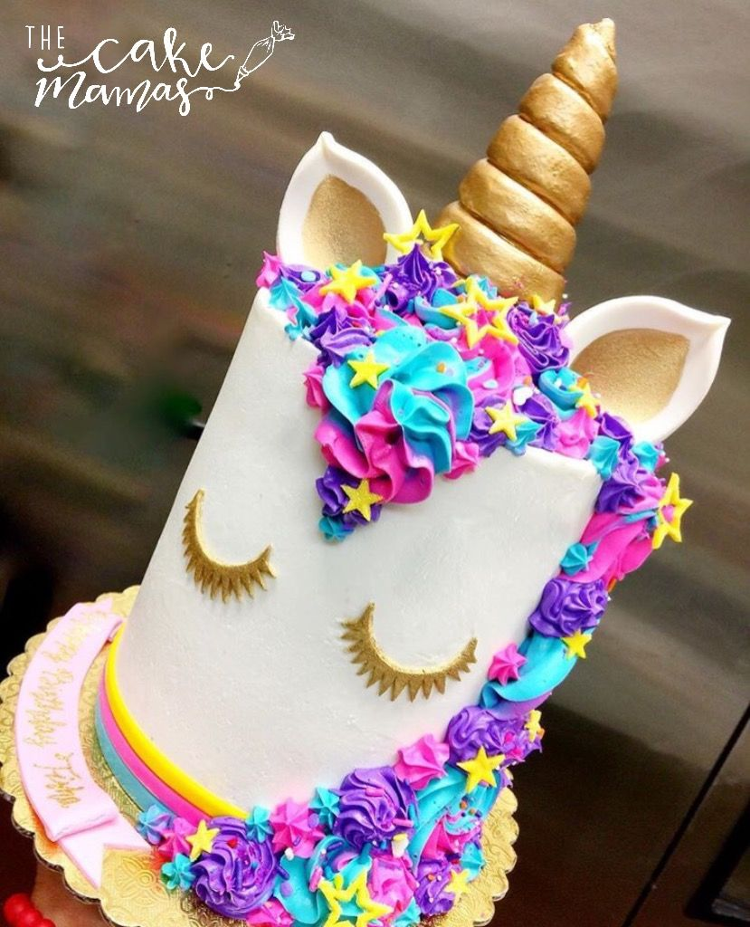 Rainbow Themed Unicorn Cake call or email to book your custom cake